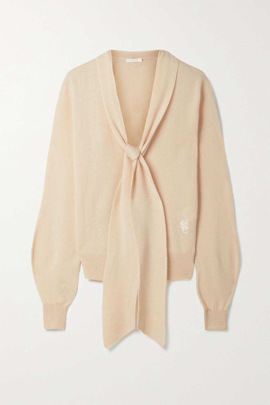 Chloé Embroidered cashmere sweater