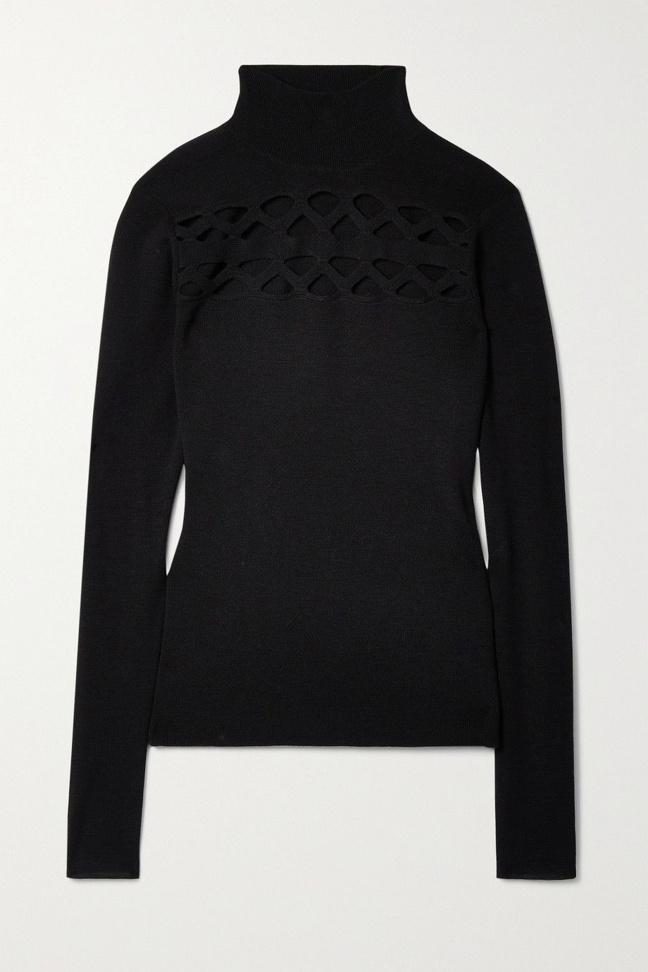 Chloé Cutout wool-blend turtleneck sweater