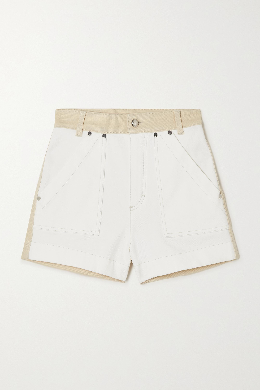 Chloé Two-tone denim shorts