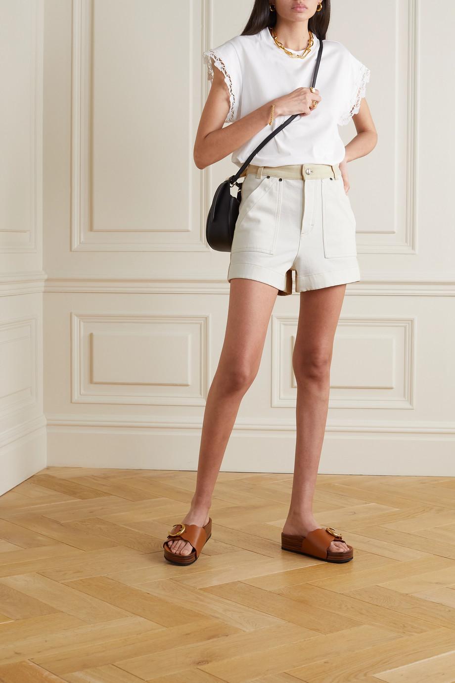 Chloé Short en jean bicolore