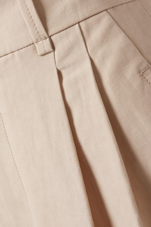 Chloé Short en toile de lin et de coton mélangés