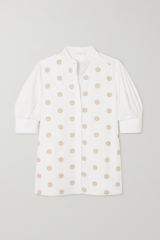 Chloé Blouse en broderie anglaise de coton