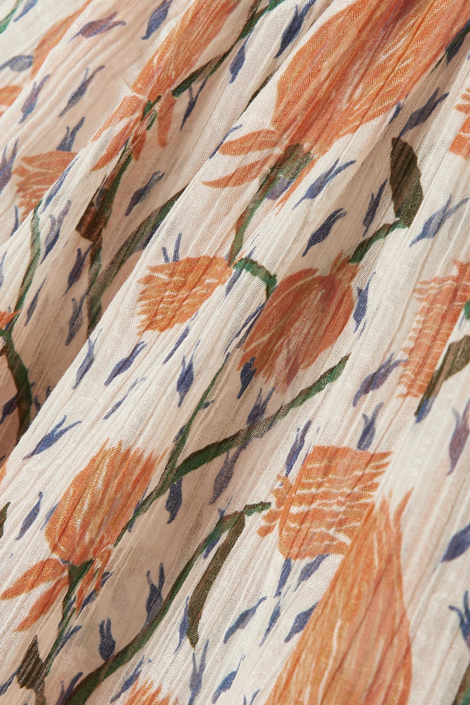 Chloé Blouse en crépon de coton et de soie mélangés à imprimé fleuri