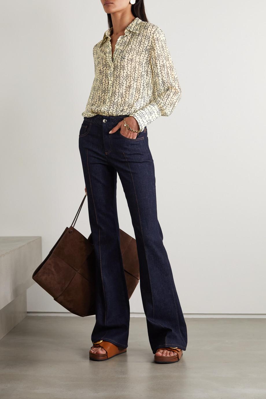 Chloé Printed silk-georgette shirt