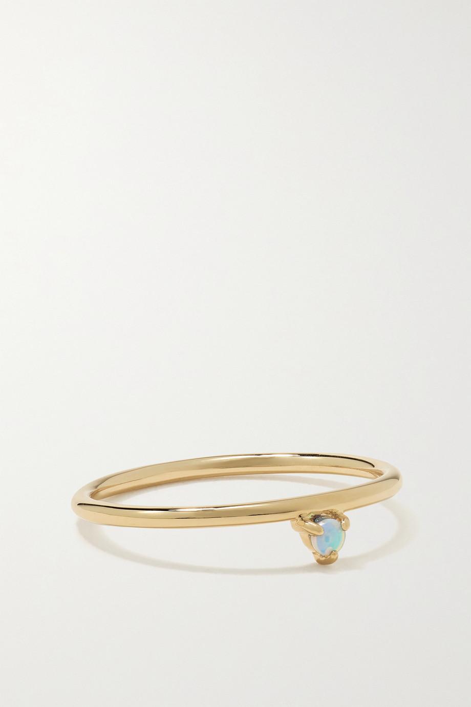 Wwake One-Step gold opal ring