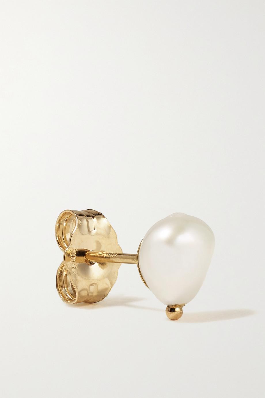 Wwake Gold pearl earrings
