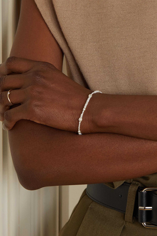 Wwake Collage Armband mit Perlen und Details aus Gold