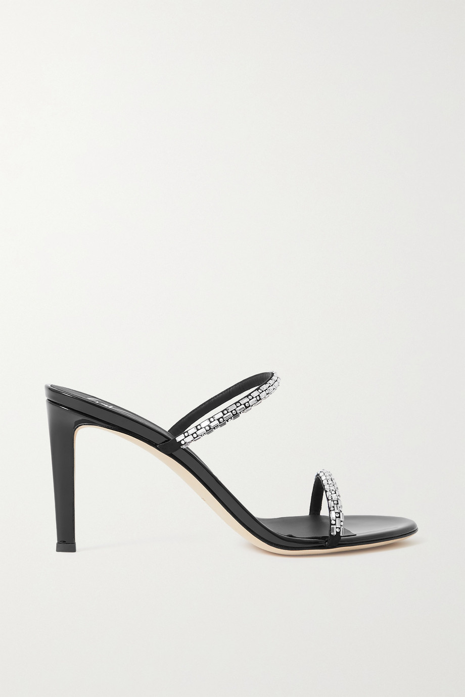Giuseppe Zanotti Crystal-embellished leather mules