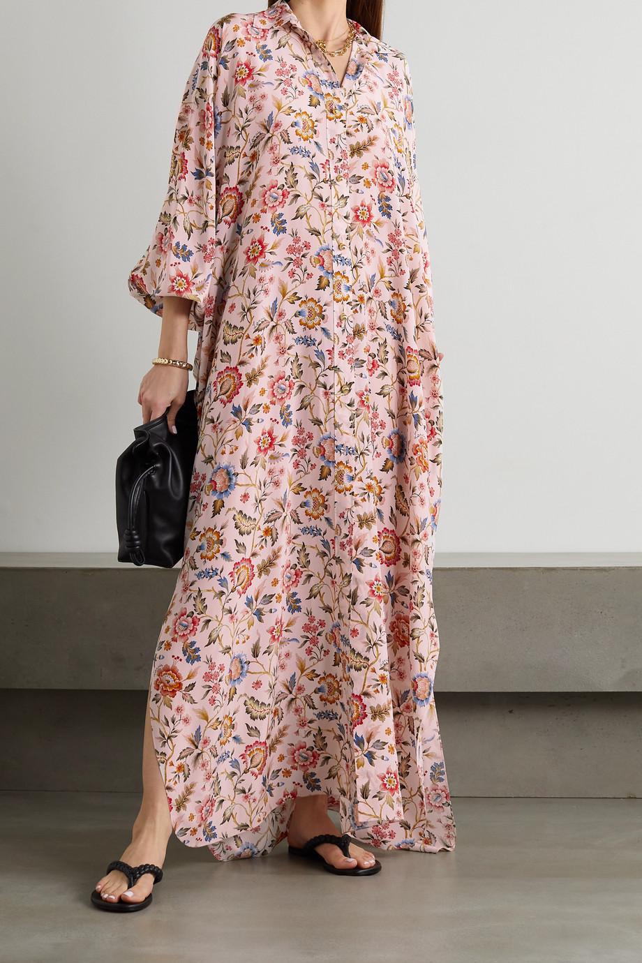 Lanvin Floral-print crepe de chine maxi dress