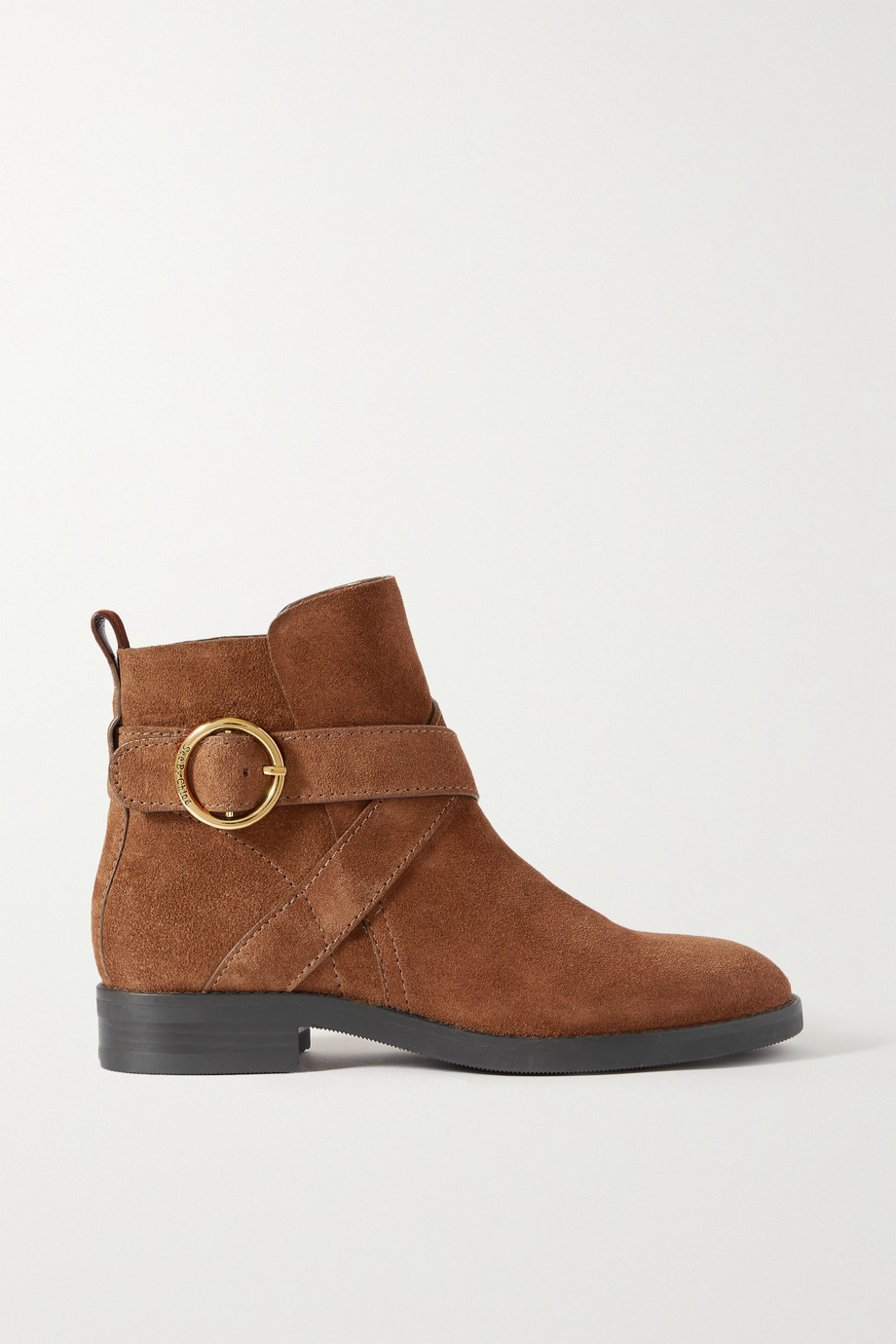 See By Chloé Lyna Ankle Boots aus Veloursleder