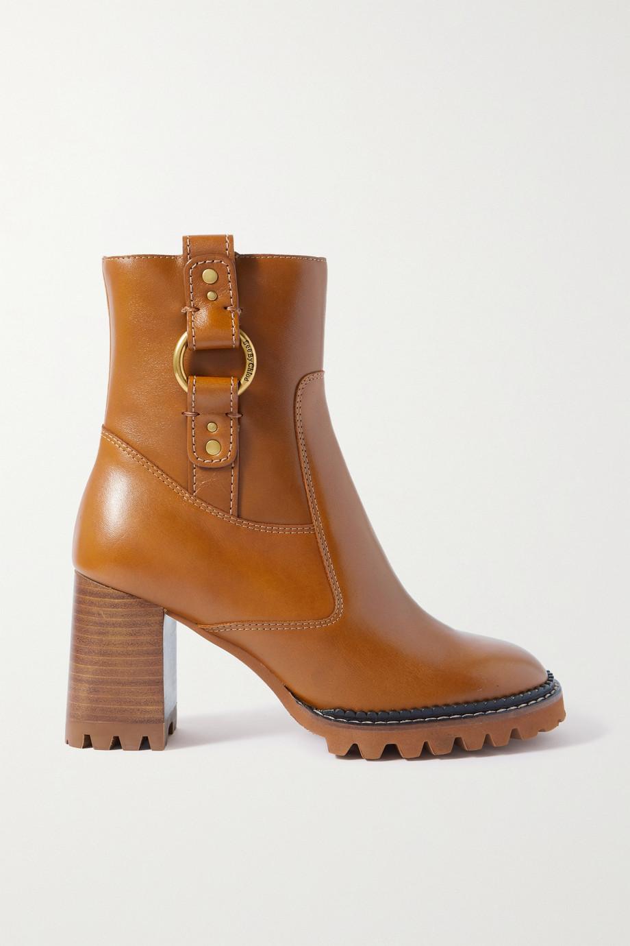 See By Chloé Erine Stiefel aus Leder mit Verzierungen
