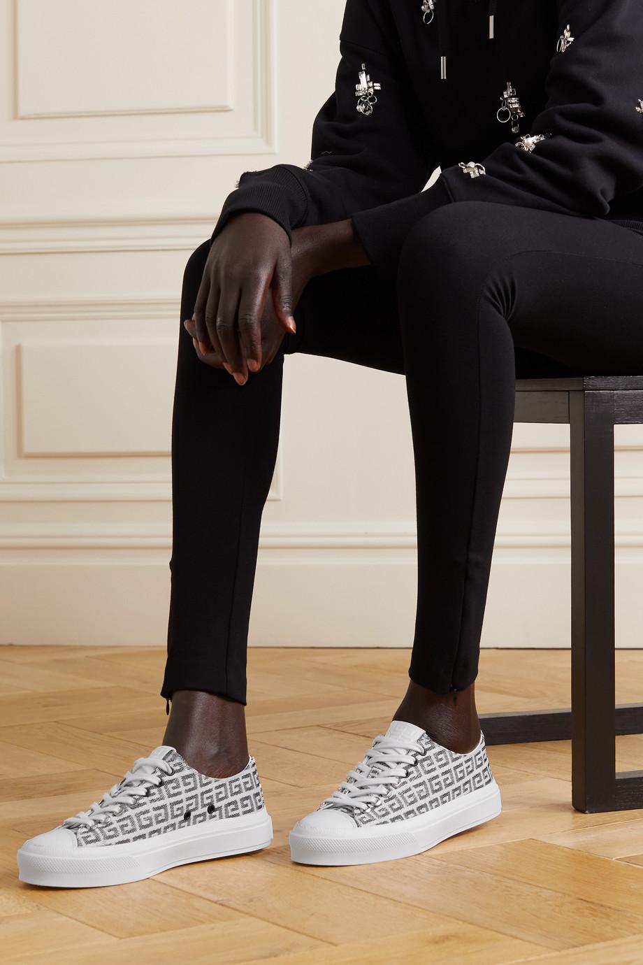 Givenchy Baskets en jacquard à logo et à finitions en cuir City 4G