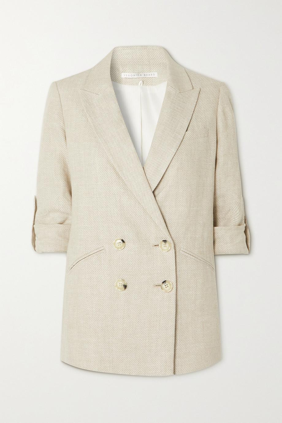 Veronica Beard Parineti double-breasted linen-twill blazer