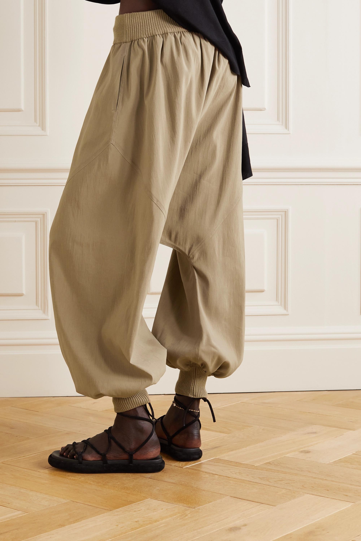 Loewe Ribbed wool-trimmed silk-blend pants