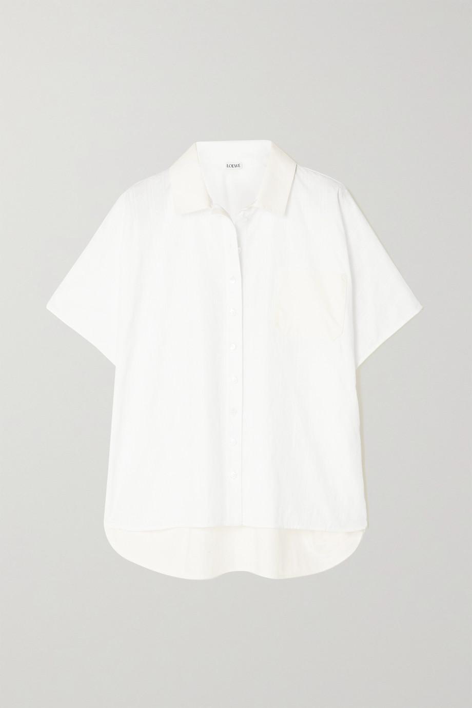 Loewe Embroidered cotton-poplin shirt