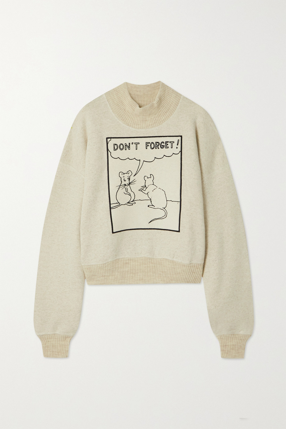 Loewe + Joe Brainard appliquéd jersey turtleneck sweatshirt