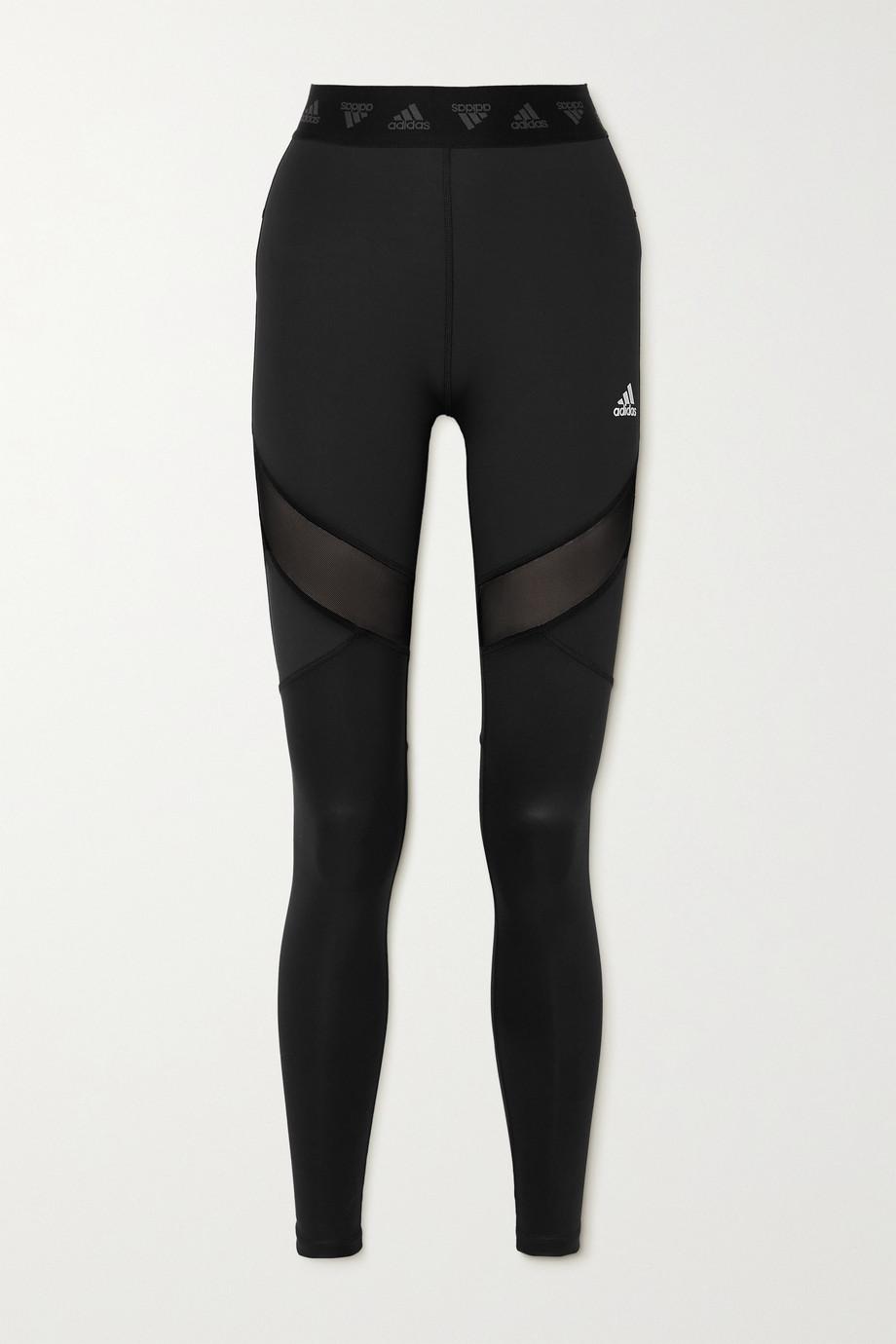adidas Originals Hyperglam mesh-paneled recycled stretch leggings
