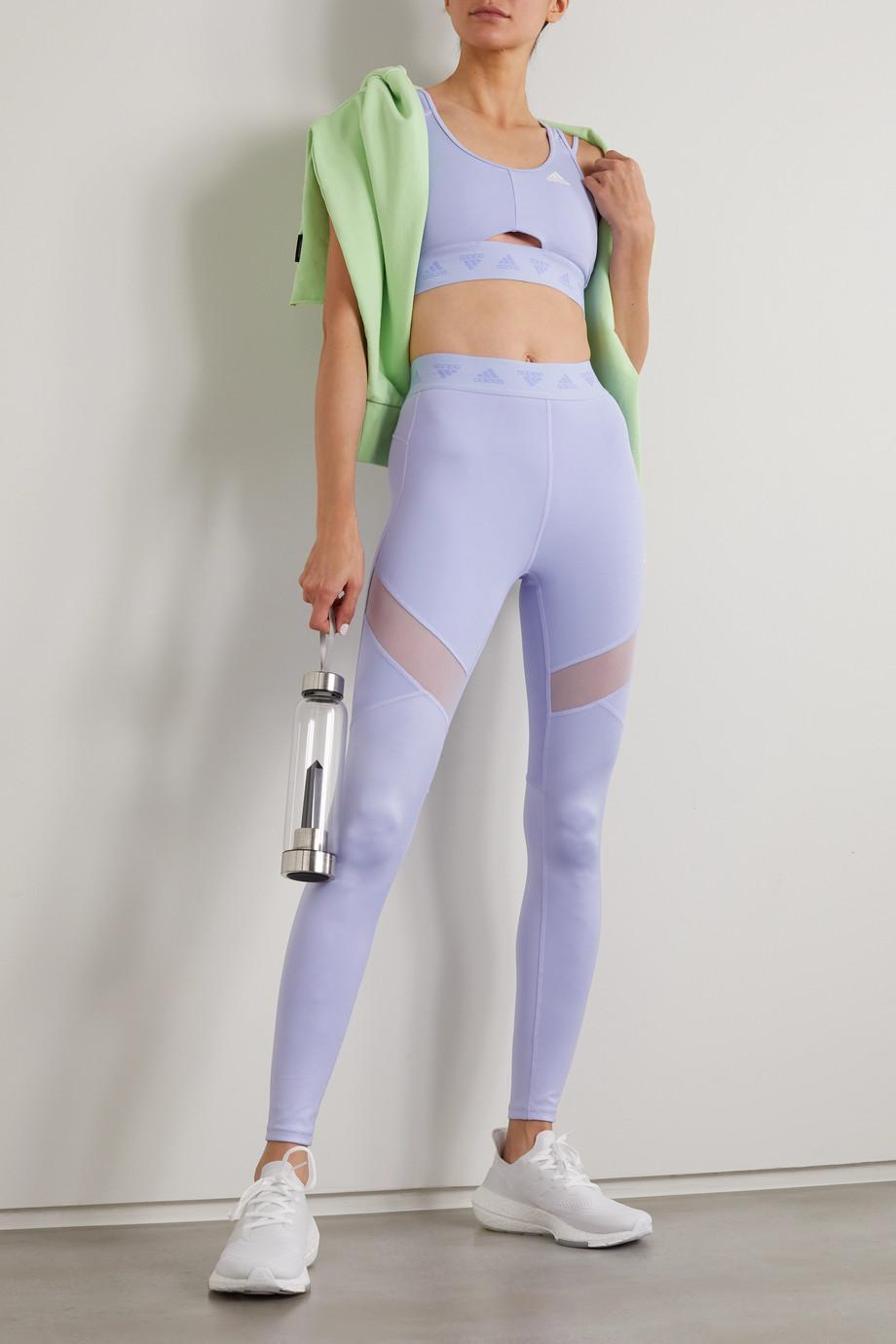 adidas Originals Hyperglam mesh-paneled stretch leggings