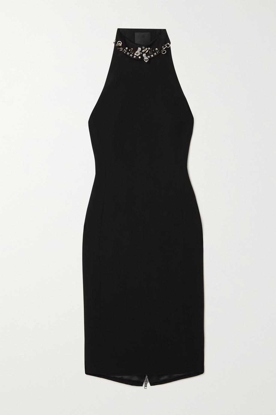 Givenchy Robe en crêpe à découpe et à ornements