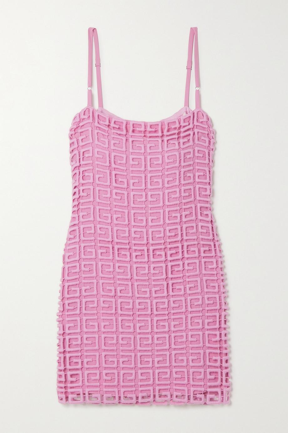 Givenchy Mini-robe en dentelle guipure de laine mélangée