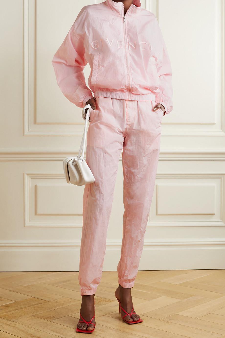 Givenchy Veste de survêtement en tissu technique à broderies