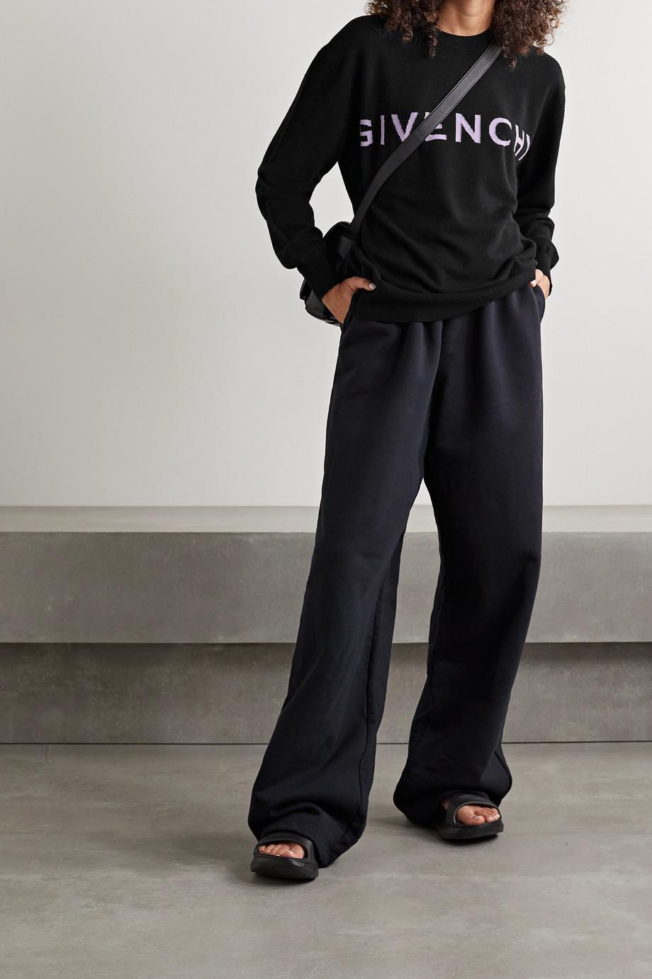 Givenchy Kaschmirpullover mit Intarsienmotiven