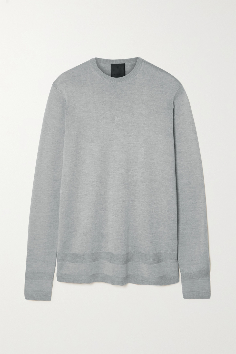 Givenchy Pull en soie à broderies