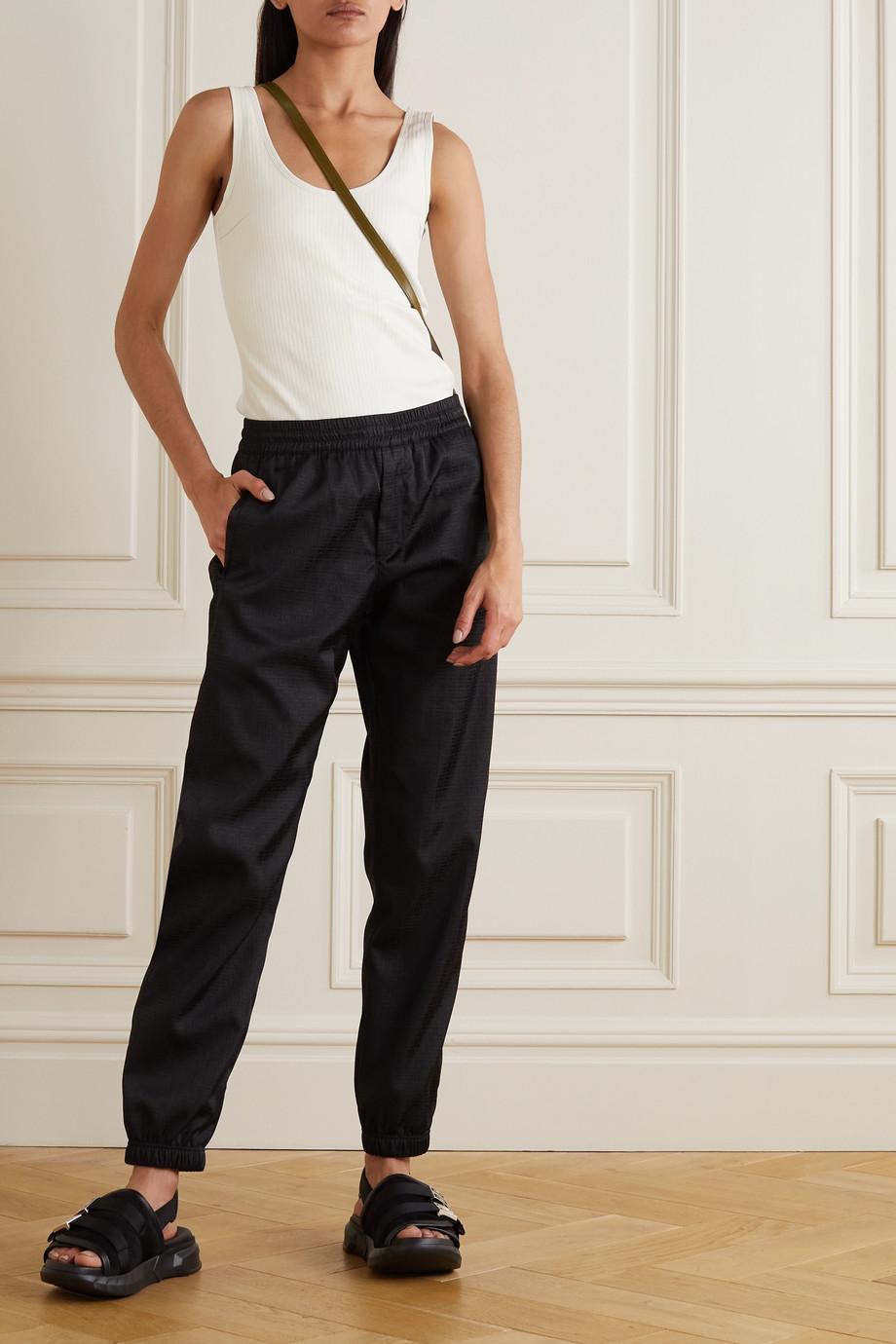 Givenchy Pantalon de survêtement en jacquard de tissu technique