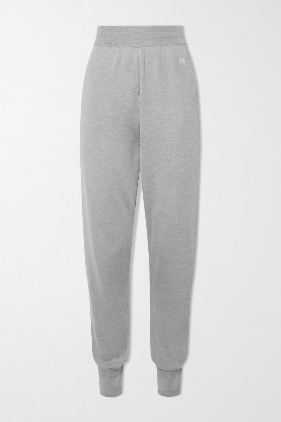 Givenchy Pantalon de survêtement en soie à broderies