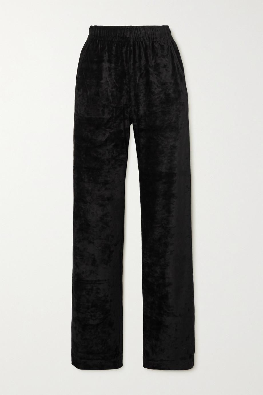 Givenchy Pantalon de survêtement en velours stretch