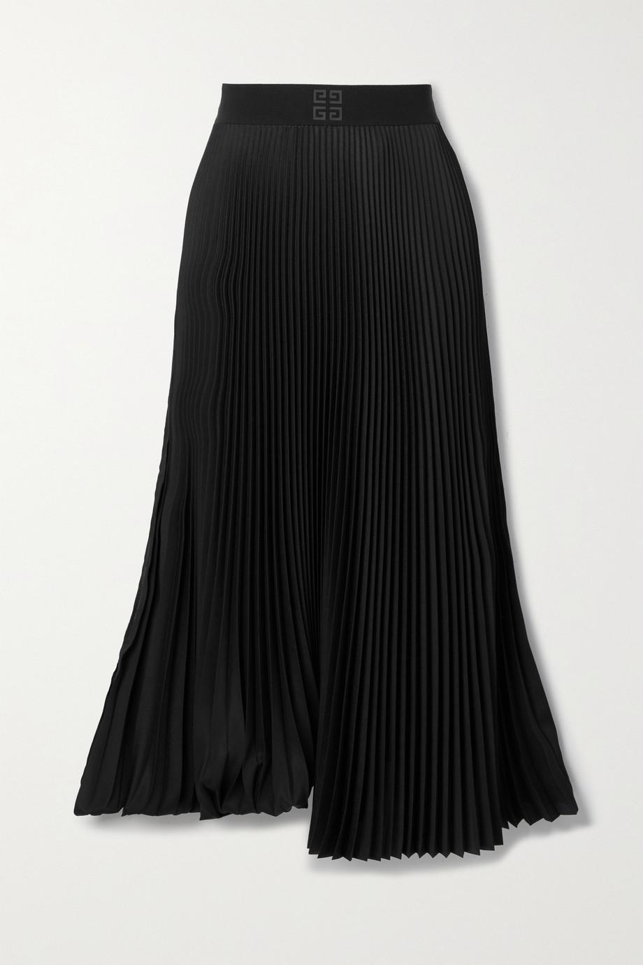 Givenchy Jupe asymétrique plissée en crêpe de Chine
