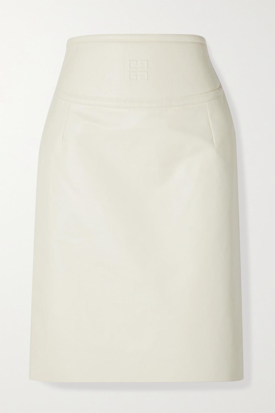 Givenchy Jupe en cuir gaufré à découpe