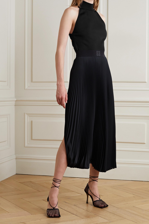 Givenchy Haut à encolure américaine en mailles à découpe