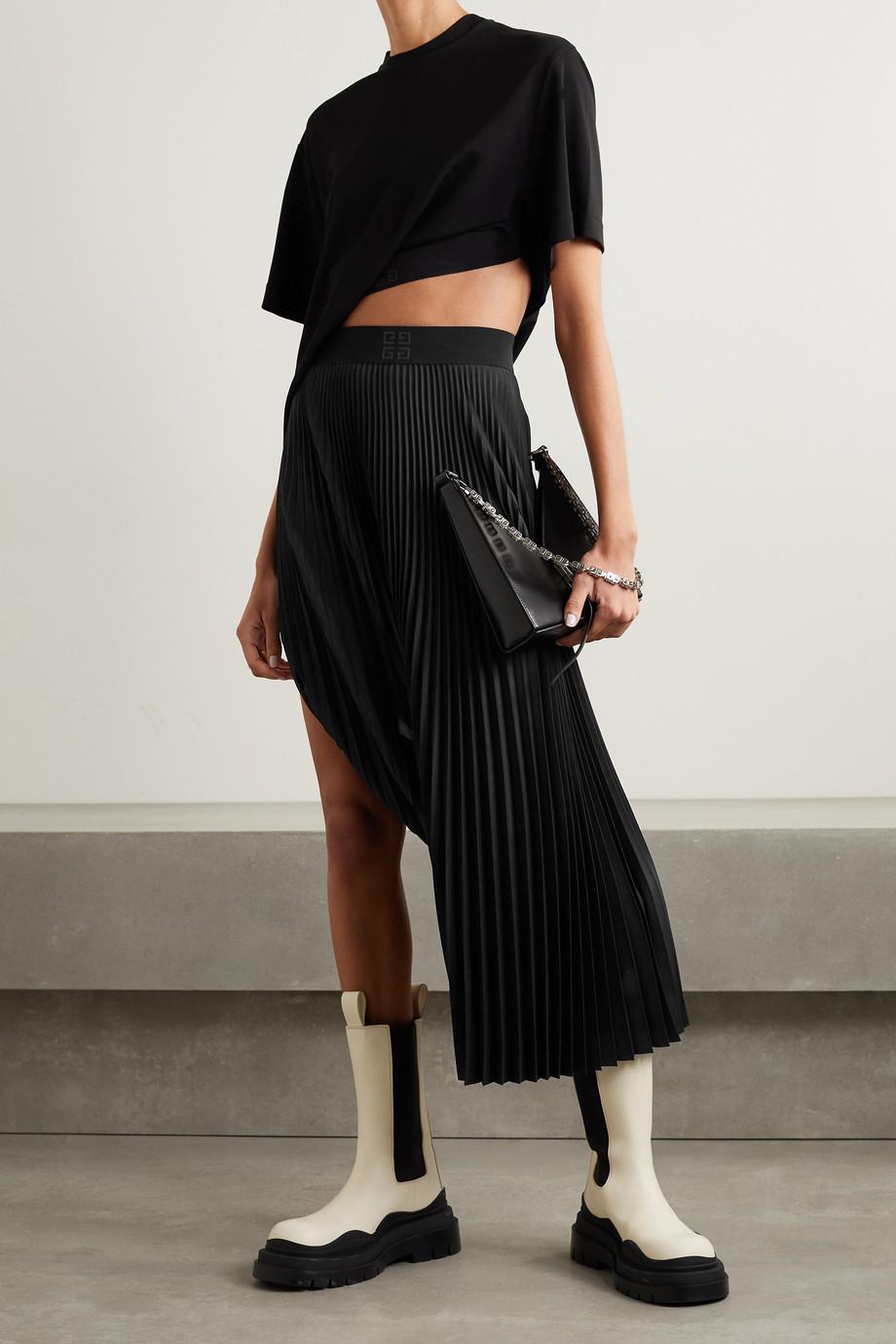 Givenchy Haut raccourci convertible en jersey stretch à finitions en gros-grain