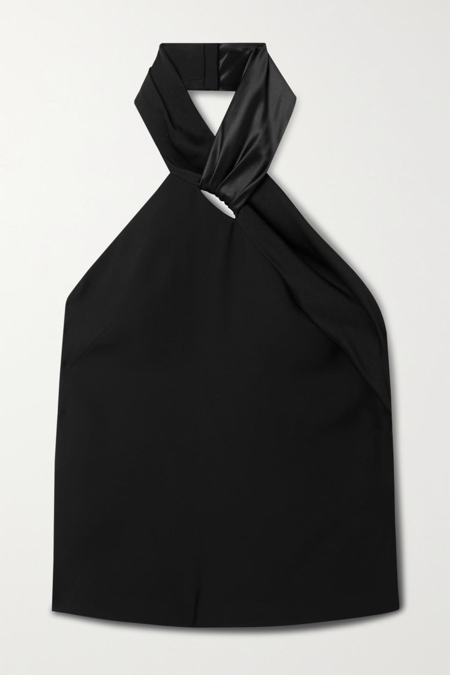 Givenchy Haut dos nu en crêpe à finitions en satin de soie