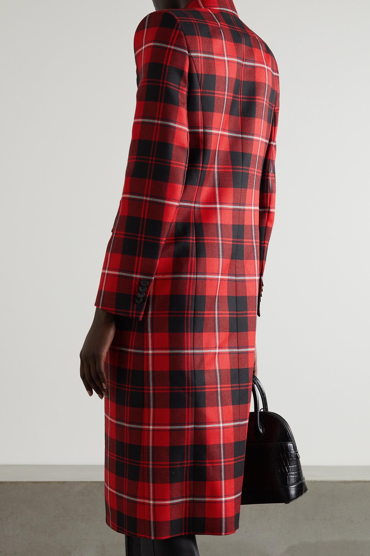 Balenciaga Manteau à double boutonnage en serge de laine à carreaux Hourglass