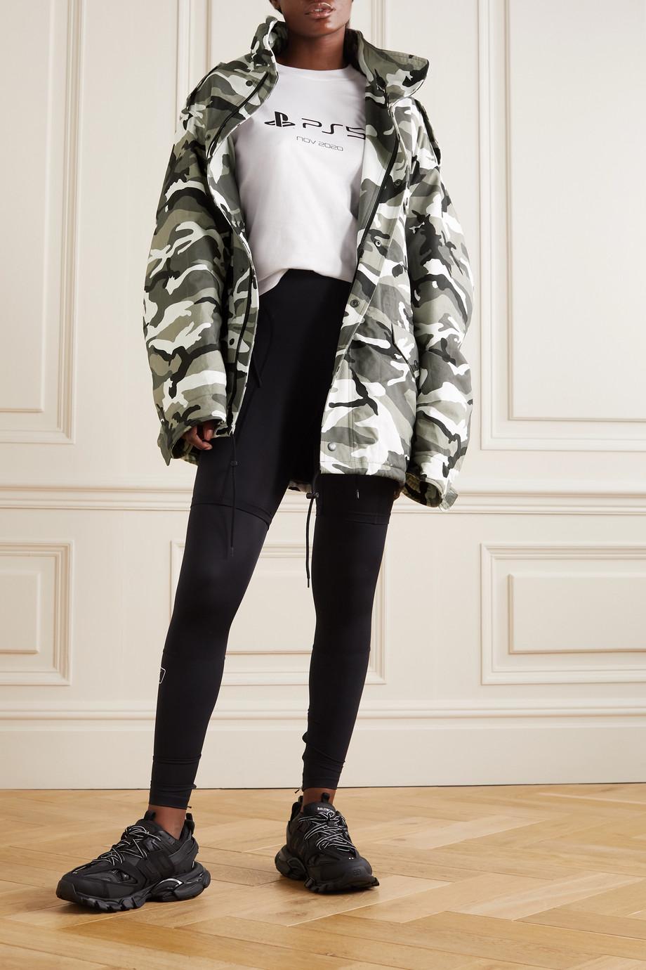 Balenciaga Oversized camouflage-print cotton-twill parka