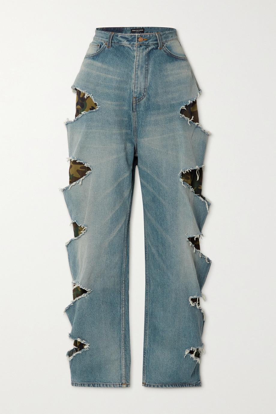 Balenciaga Layered distressed high-rise jeans