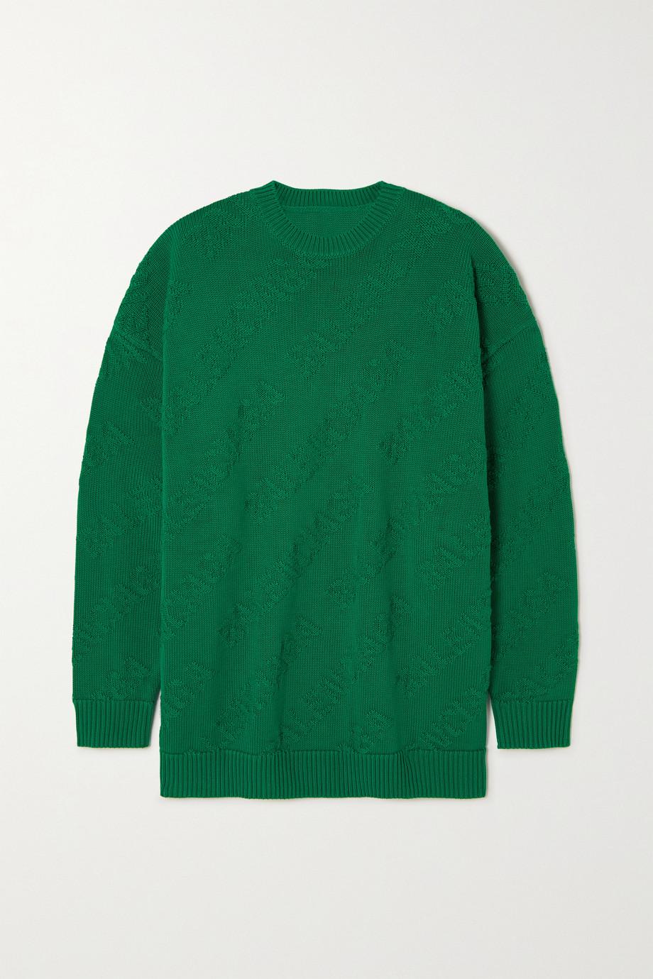 Balenciaga Pull en jacquard de coton