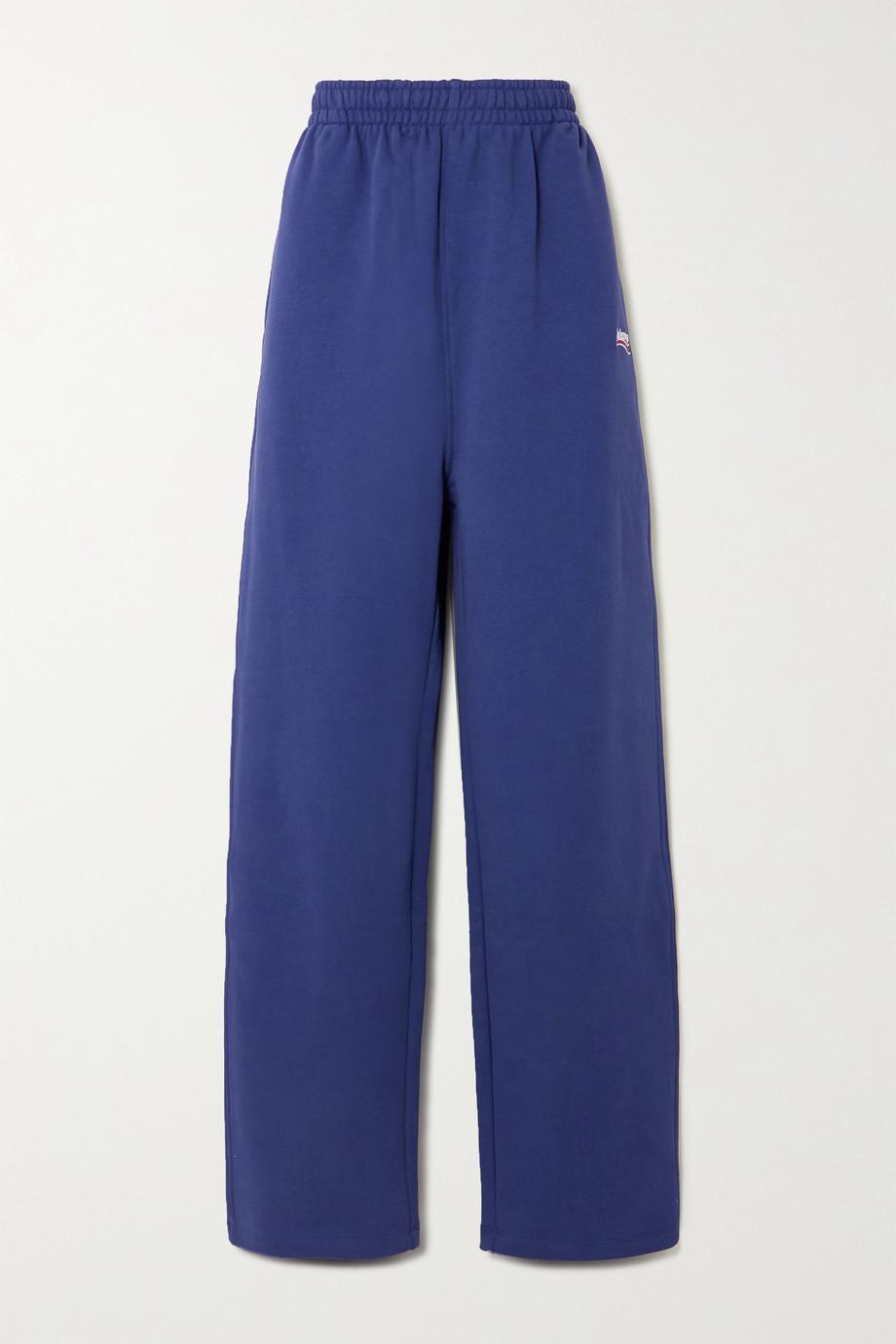 Balenciaga Pantalon de survêtement en jersey de coton à broderies