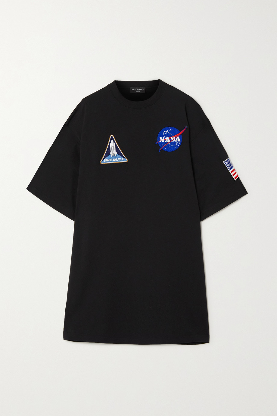 Balenciaga T-shirt oversize en jersey de coton à appliqués Space