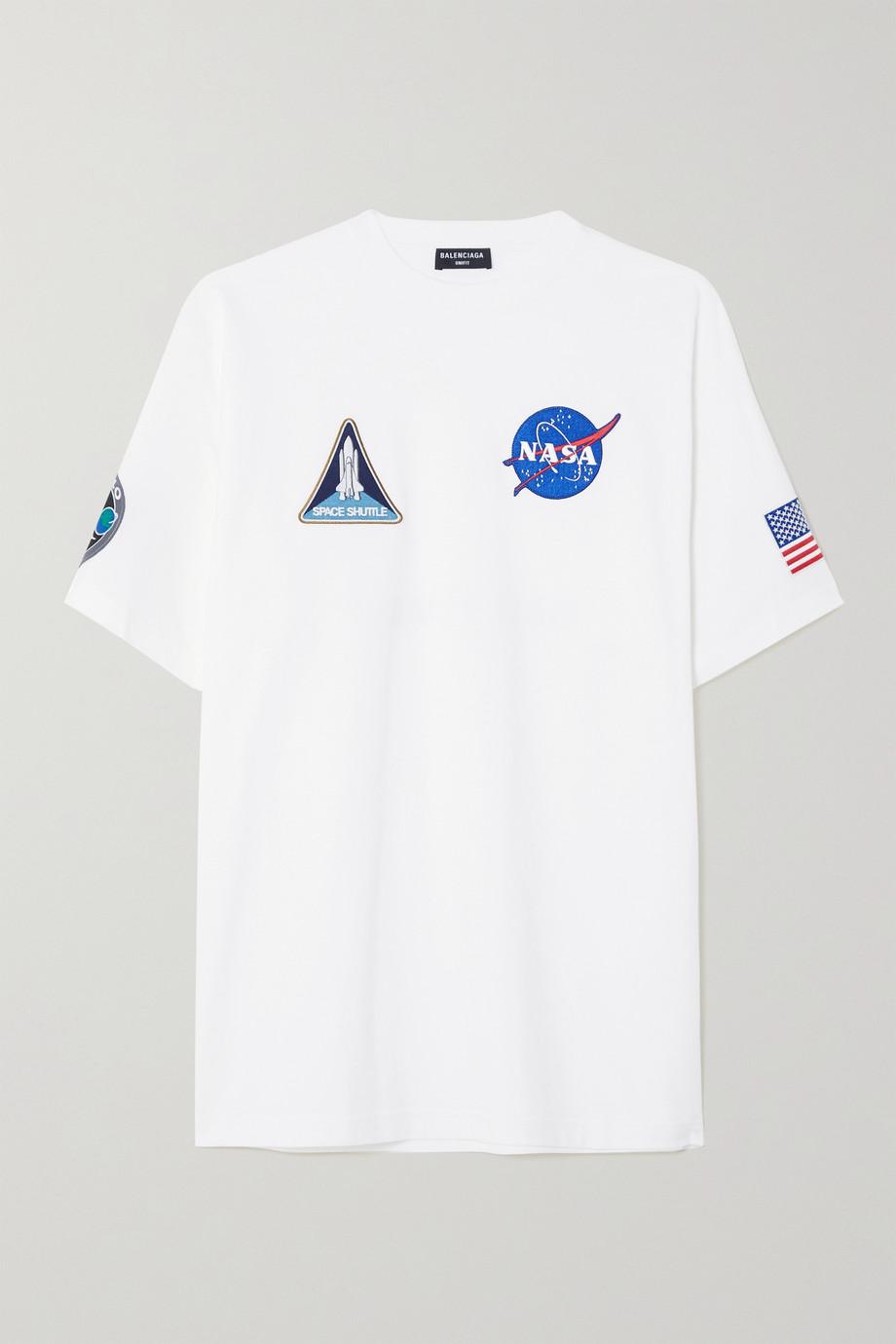 Balenciaga T-shirt oversize en jersey de coton imprimé à appliqués NASA Space