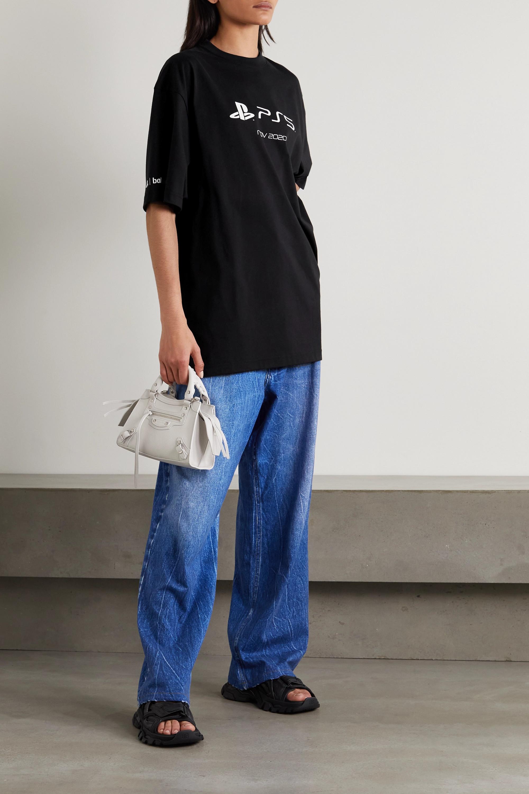 Balenciaga T-shirt oversize en jersey de coton à imprimé x PlayStation