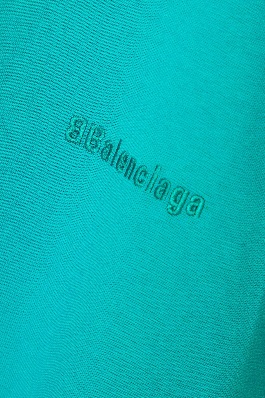 Balenciaga T-shirt en jersey de coton à broderies