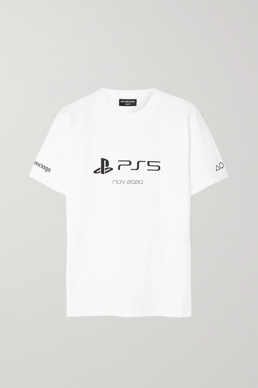 Balenciaga T-shirt en jersey de coton imprimé x PlayStation