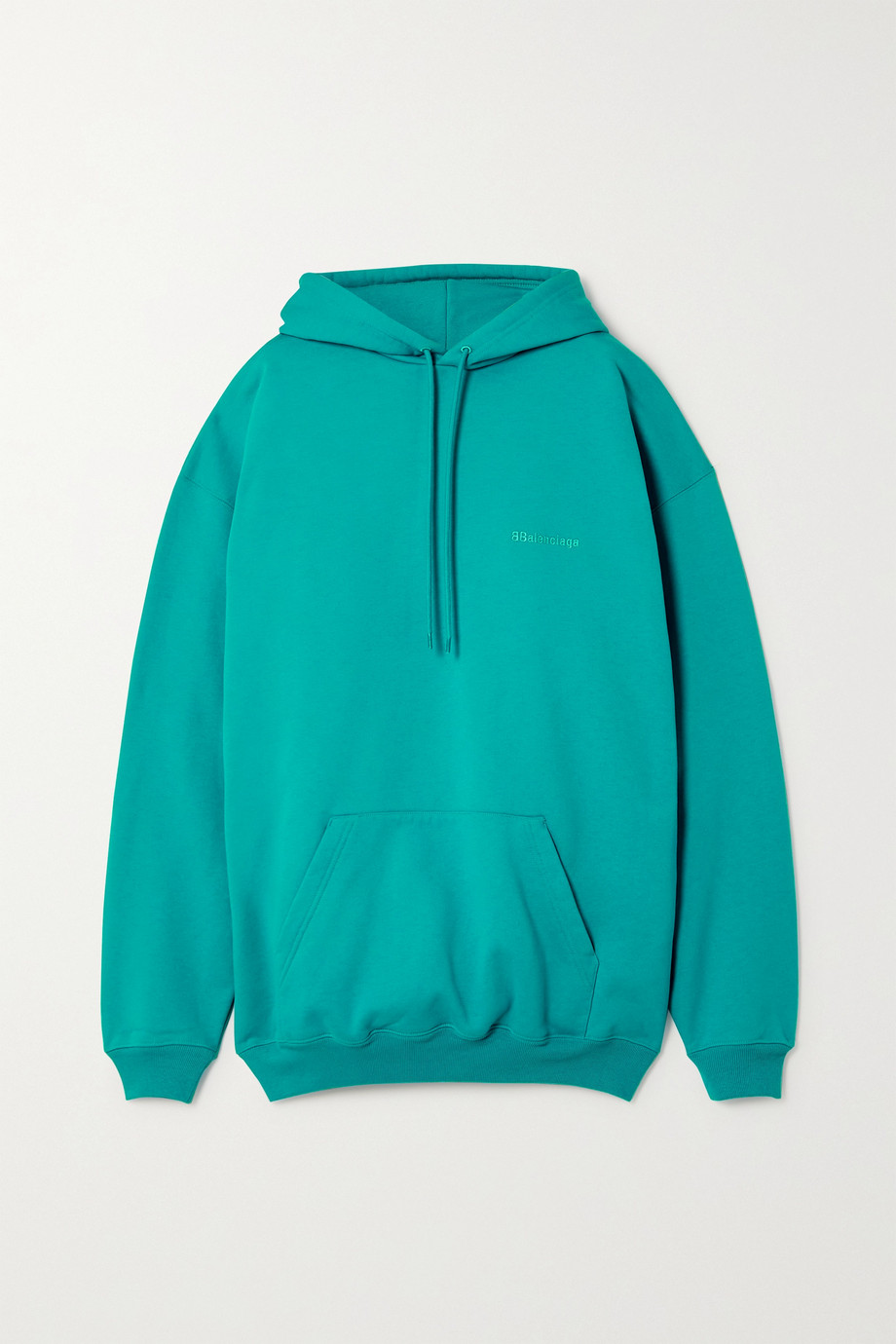Balenciaga Oversized embroidered cotton-jersey hoodie