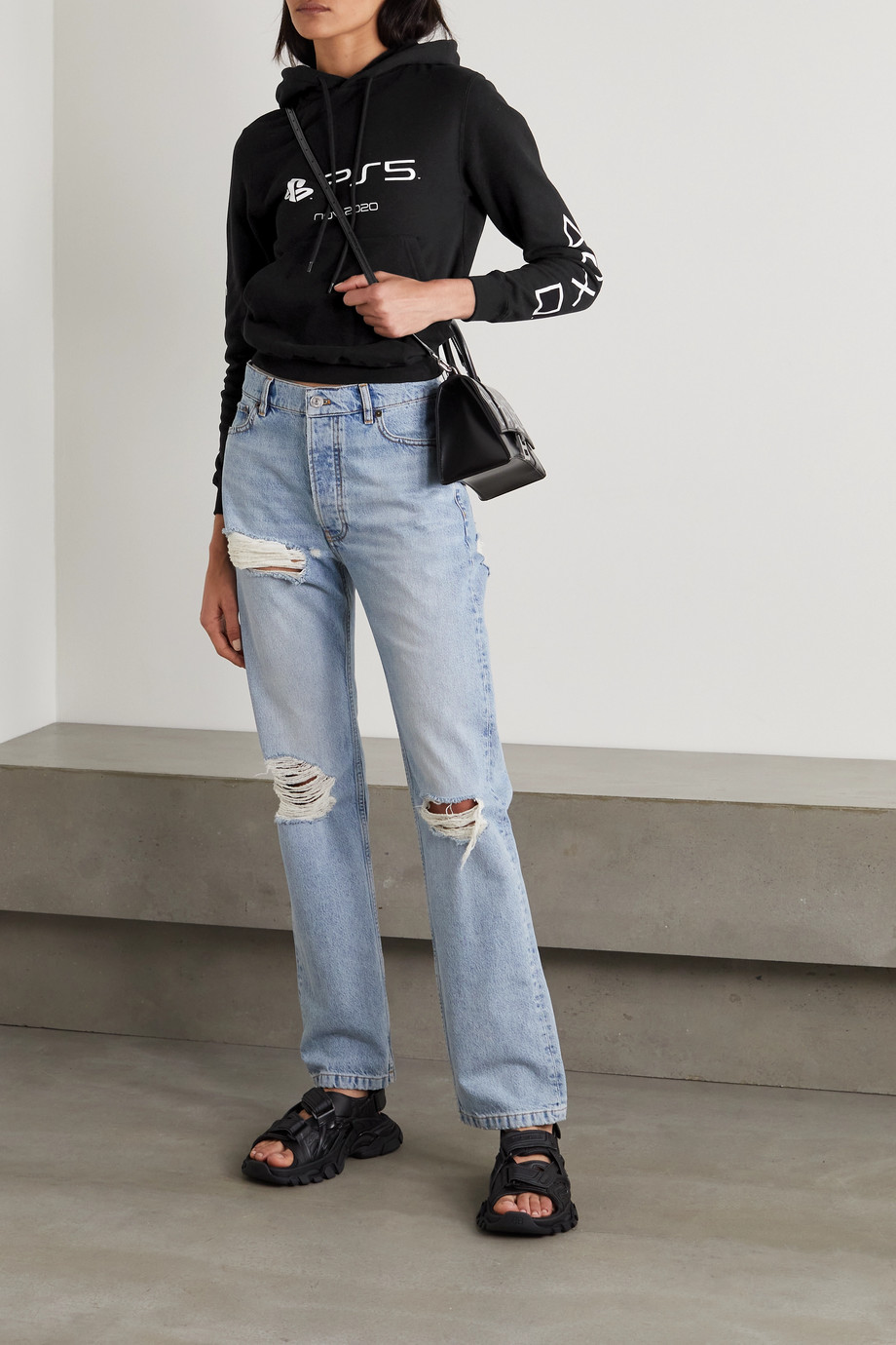 Balenciaga Sweat à capuche en jersey de coton imprimé x PlayStation