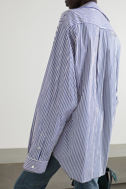 Balenciaga Chemise oversize asymétrique en coton à rayures