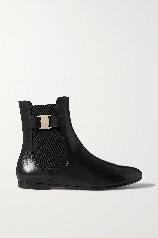 Salvatore Ferragamo - Leelo bow-detailed leather Chelsea boots