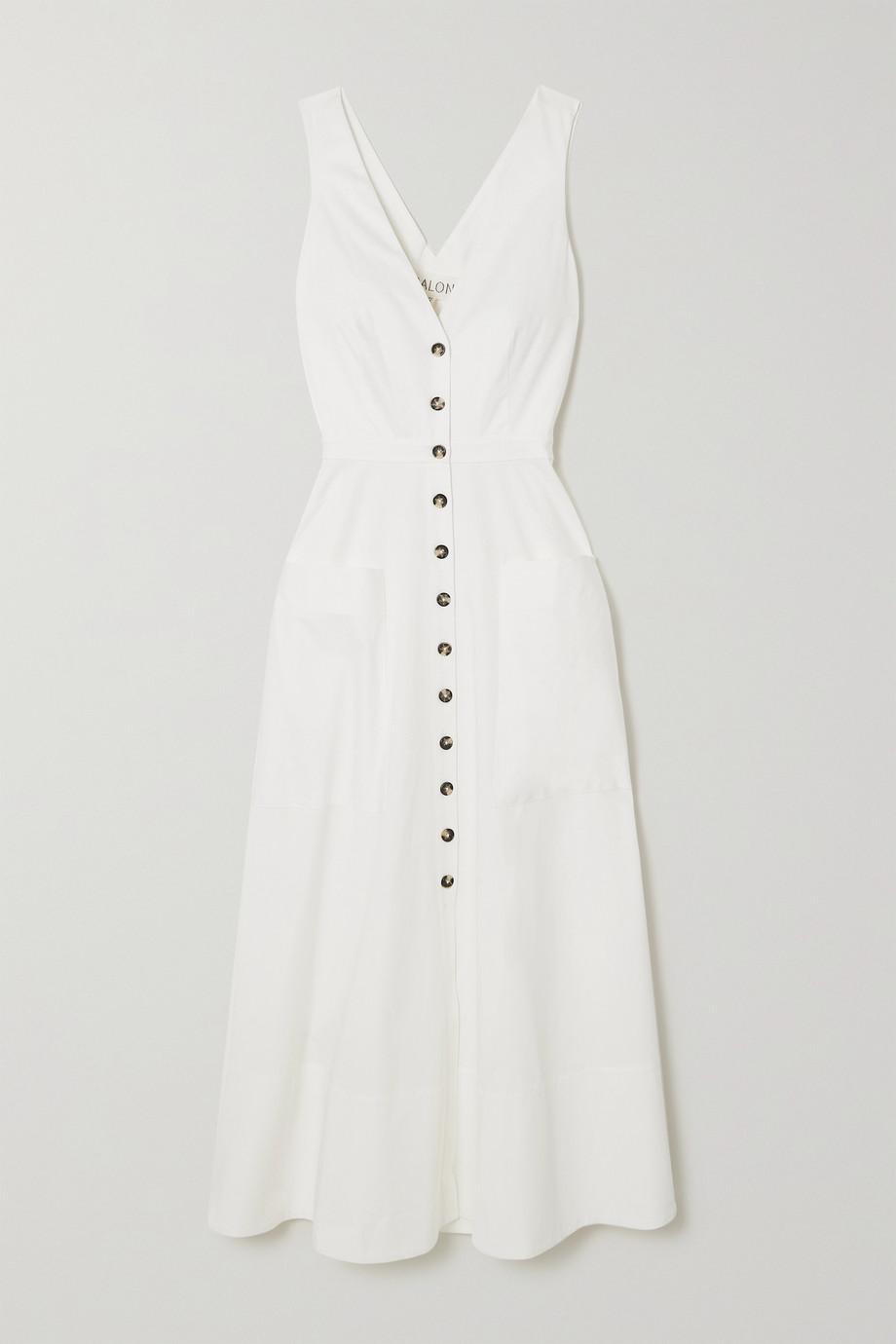 Saloni Zoey Kleid aus Stretch-Baumwollpopeline mit Cut-out